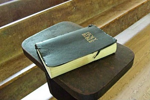 Holy Bible on Stand